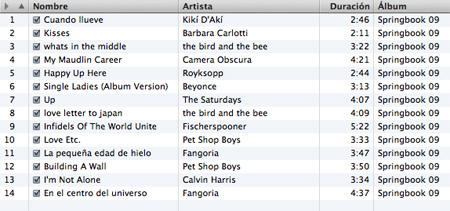 springbook-09-tracklist